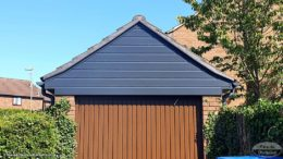 Anthracite fascias, soffits, guttering and cladding Winchester